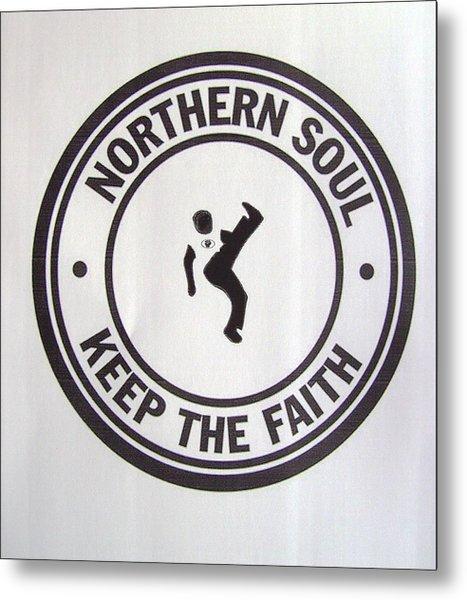 Northern Soul Dancer Metal Print
