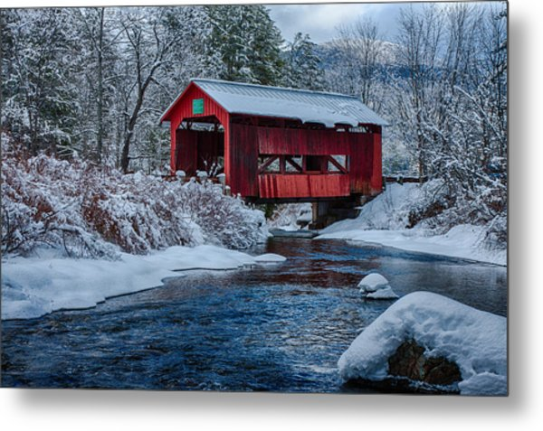 Northfield Vermont Covered Bridge Metal Print