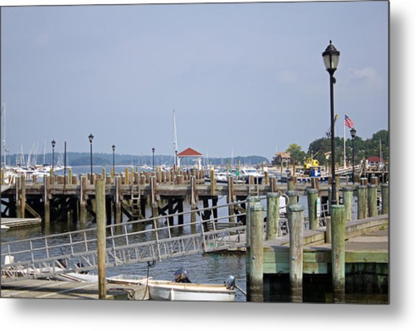 Northport Dock Long Island New York Metal Print