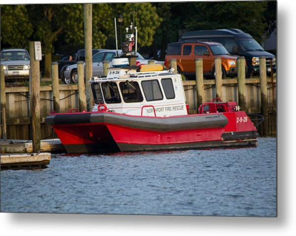 Northport Fire Boat Long Island New York Metal Print