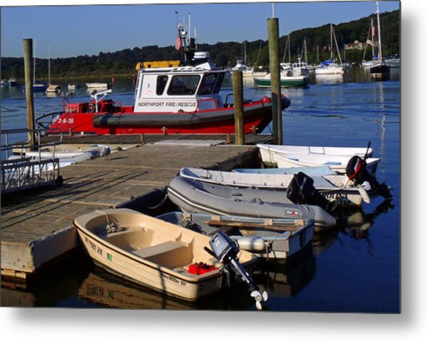 Northport Fire Boat Metal Print
