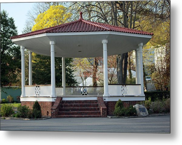 Northport Gazebo Long Island New York Metal Print