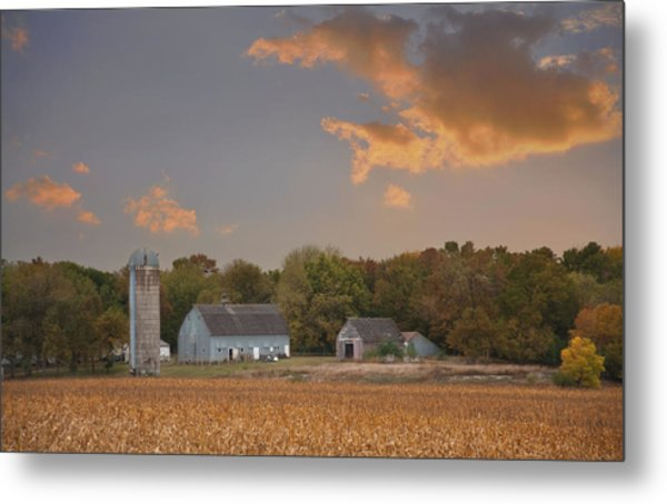 Northwest Iowa Farmscape Metal Print