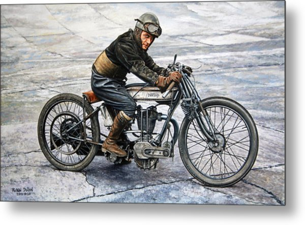 Norton Rider Metal Print