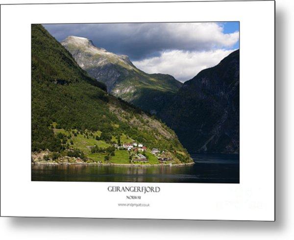 Norway Geiranger Geirangerfjord Fjord Metal Print