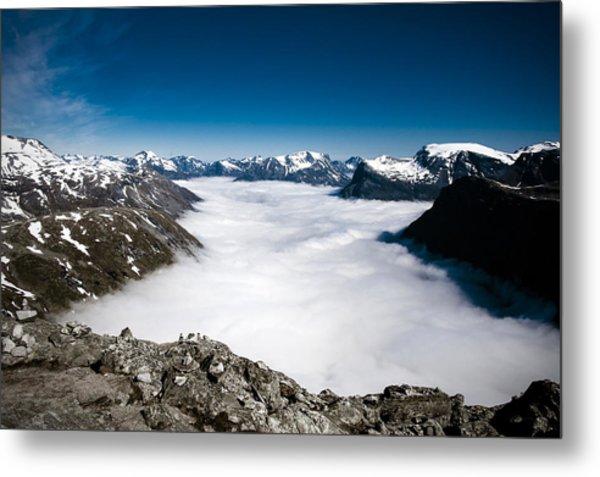 Norway In The Clouds Metal Print