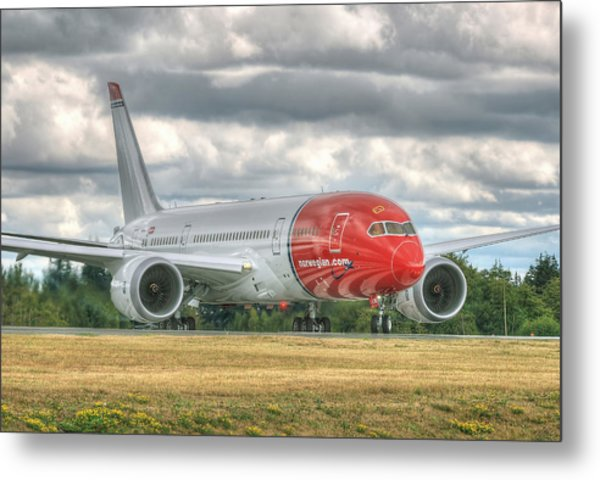 Norwegian 787 Metal Print