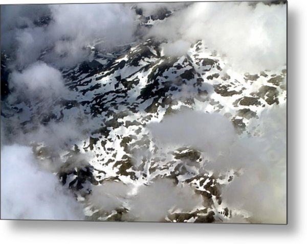Norwegian Mountains From On High Metal Print