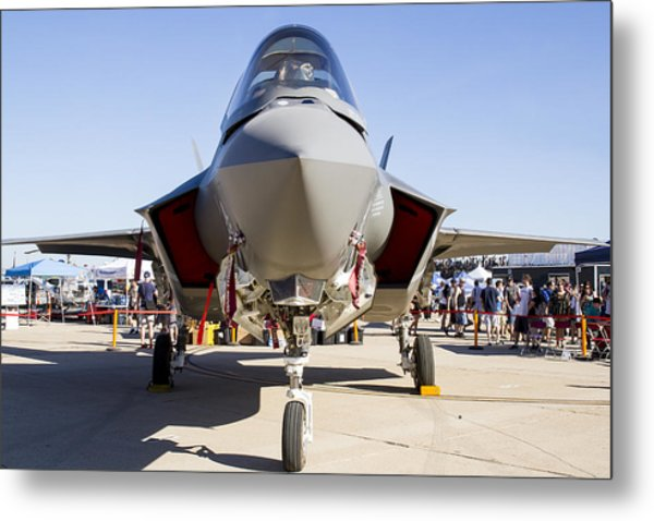Nose To Nose With An F-35 Metal Print