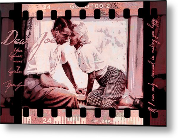Nostalgia Joe Dimaggio And Marilyn Monroe Your Happiness Means My Happiness Metal Print