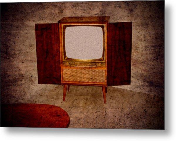 Nostalgia - Old Tv Set Metal Print