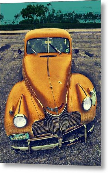 Nosy Car Metal Print