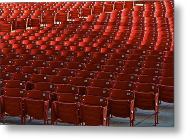 Red Rows Metal Print by John Babis