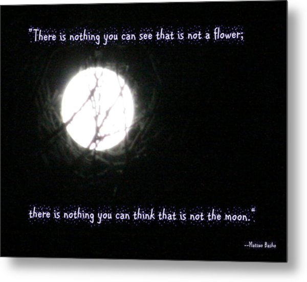 Nothing But The Moon Metal Print