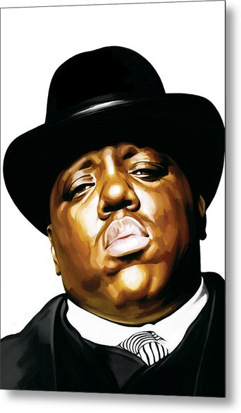 Notorious Big - Biggie Smalls Artwork 2 Metal Print