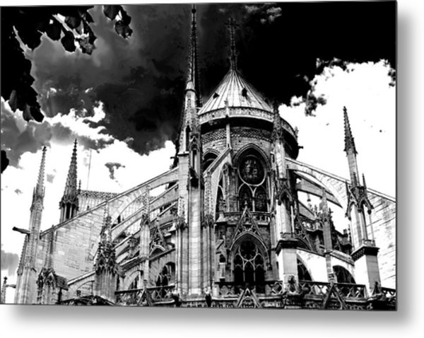 Notre Dam Revealed By Denise Dube Metal Print