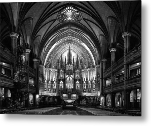 Notre-dame Basilica Of Montreal Metal Print by C.s. Tjandra