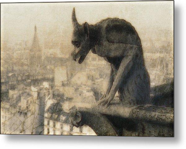 Notre Dame Cathedral Gargoyle Metal Print