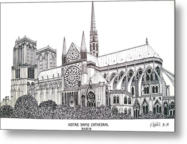 Notre Dame Cathedral - Paris Metal Print by Frederic Kohli