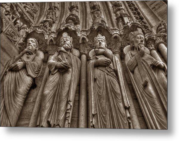 Notre Dame Facade Detail Metal Print