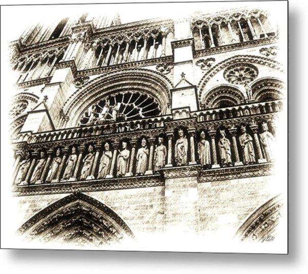 Notre Dame Pencil Metal Print