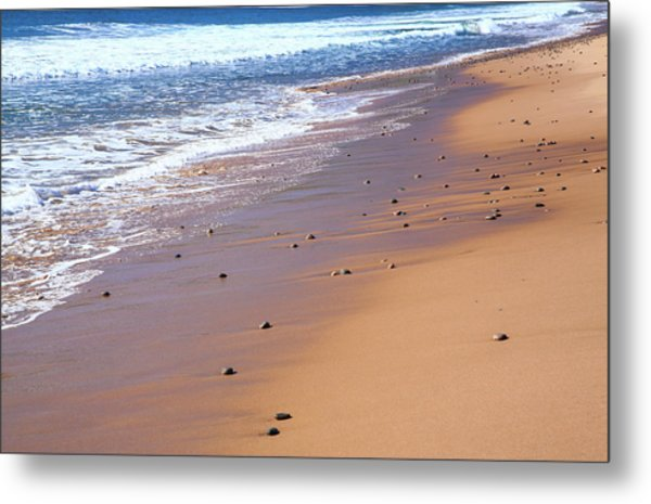 Nova Scotia, Beach Near The Cabot Metal Print