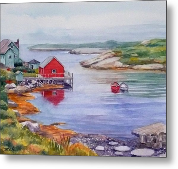 Nova Scotia Harbor Metal Print
