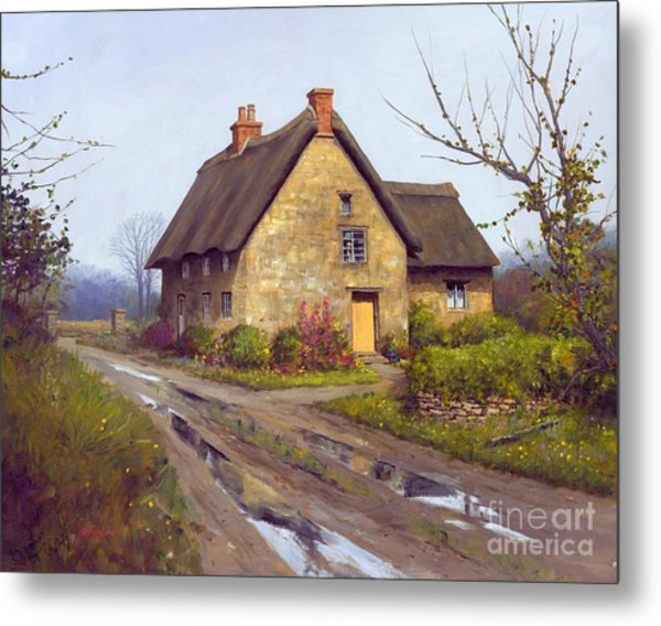 November Cottage  Metal Print by Michael Swanson