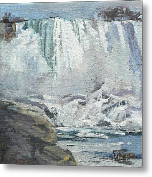 November Falls At Niagara Metal Print