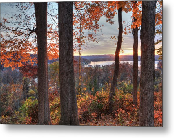 November Morning At The Lake Metal Print