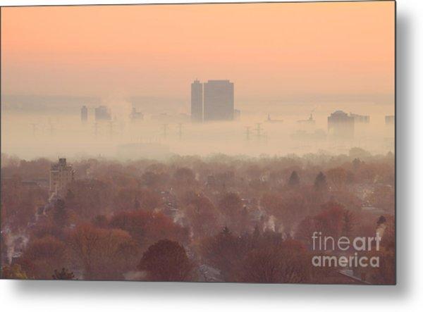November Morning Fog Metal Print by Charline Xia