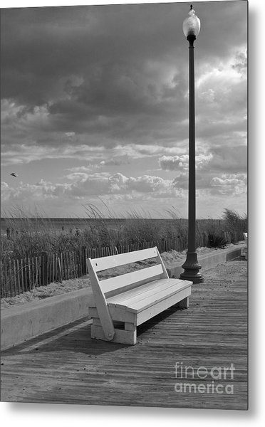 November On The Boardwalk Metal Print