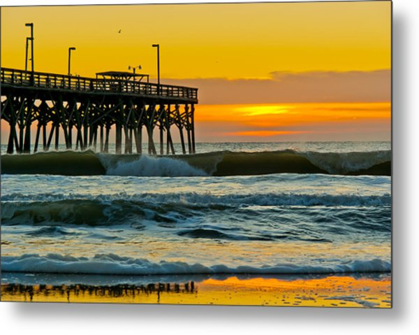 Metal Print featuring the photograph November Surf by Francis Trudeau