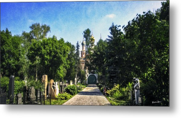 Novodevichy Cemetery 2 - Moscow - Russia Metal Print