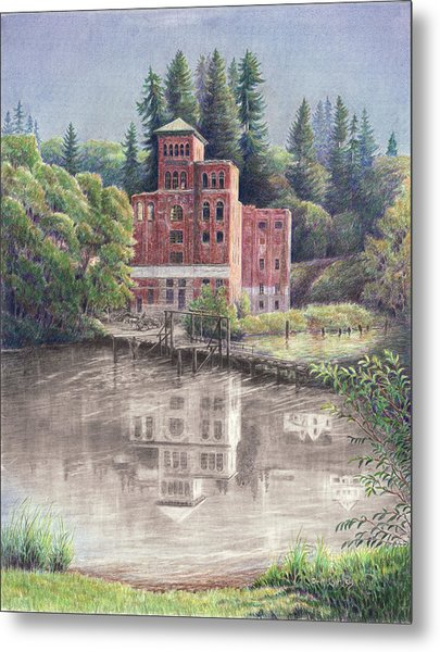 Now And Then - Old Olympia Brewery Metal Print