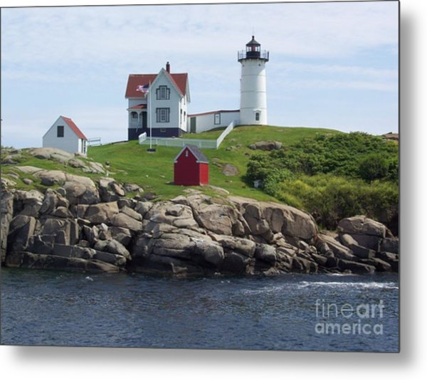 Nubble Lighthouse In Maine Metal Print