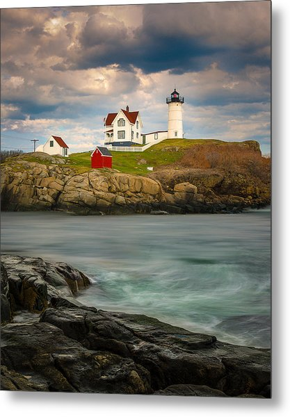 Nubble Lighthouse Metal Print
