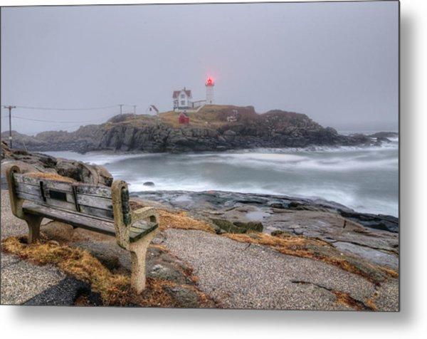 Nubble Lighthouse View Metal Print