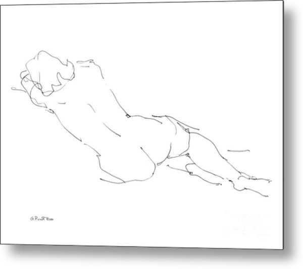 Nude Female Drawings 9 Metal Print