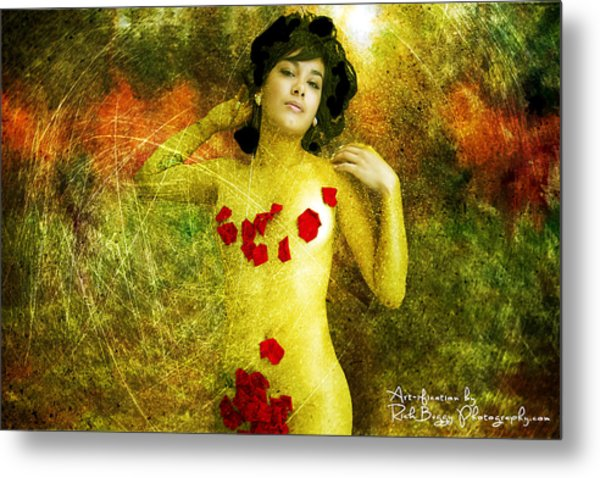 Nude In The Forest Metal Print by Rick Buggy
