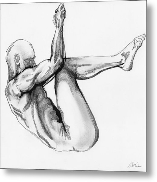 Nude Male 1 Metal Print