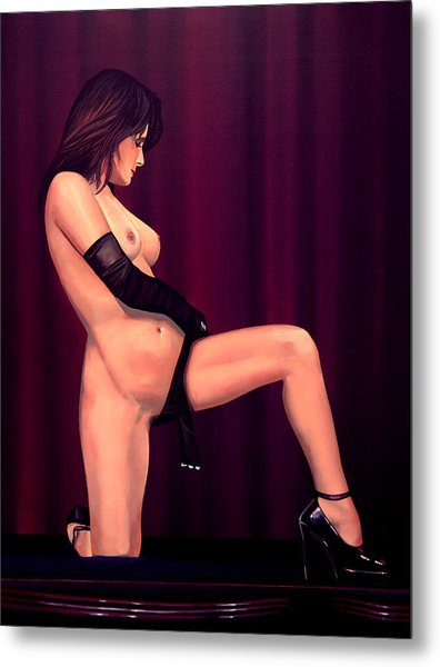 Nude Stage Beauty Metal Print