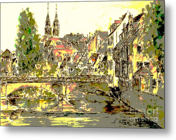 Nuremberg View To St.laurence Church Metal Print by Almo M