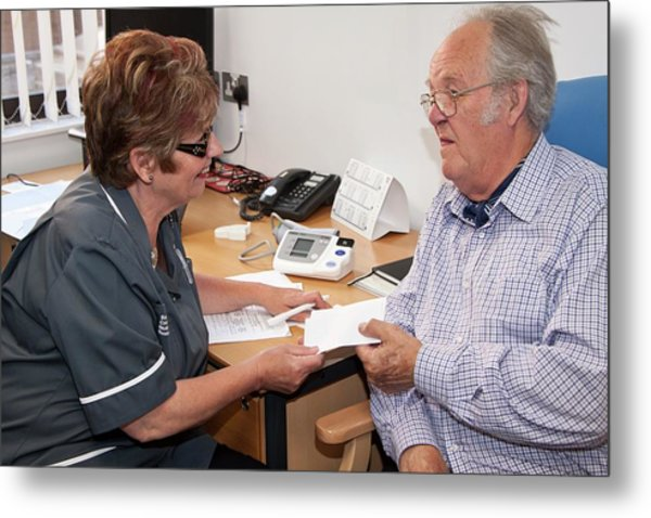 Nurse Consulation Metal Print by Life In View/science Photo Library