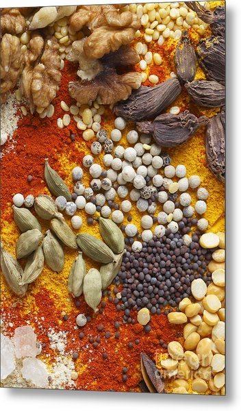 Nuts Pulses And Spices Metal Print