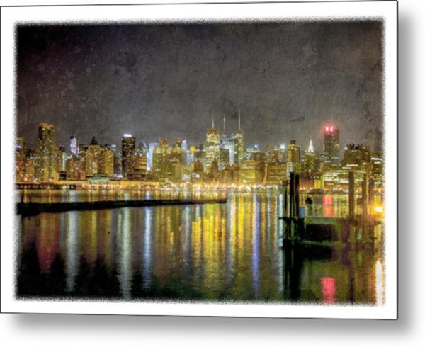 Nyc At Night Metal Print