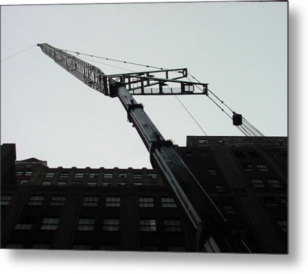 Nyc Construction Crane  Metal Print
