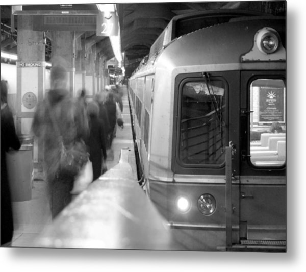 Metro North/ct Dot Commuter Train Metal Print