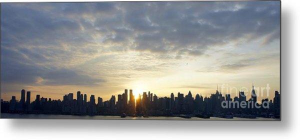 Nyc Sunrise Panorama Metal Print
