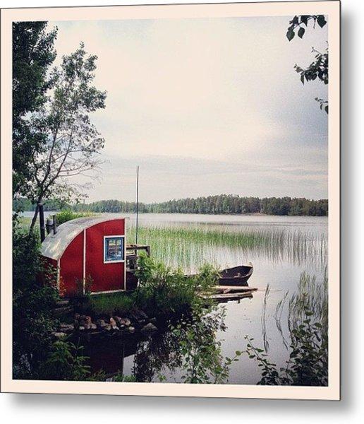 #nydala #nydalasjön #rödstuga #sjö Metal Print